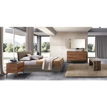 Akademy Euro King Size Storage Bedroom Set w/Eco Leather Ring