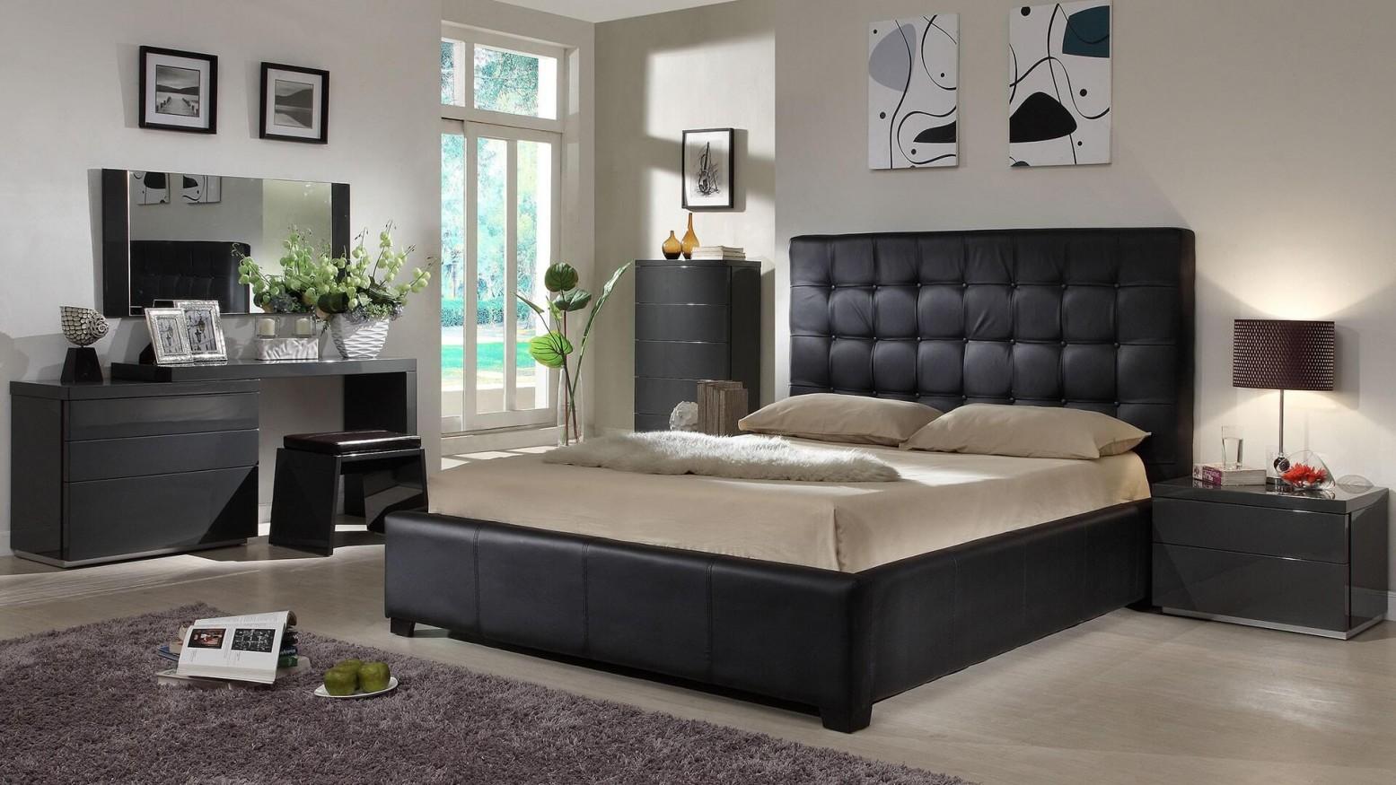 Athens 3-Piece Queen Size Bedroom Set, Black