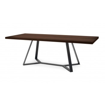 "Archie 93.75"" Table, Chocolate Ash"