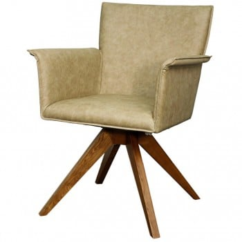 Addison PU Chair, Walnut Legs, Antique Tan by NPD (New Pacific Direct)