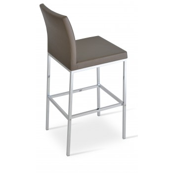 Aria Chrome Counter Stool, Golden PPM by SohoConcept Furniture