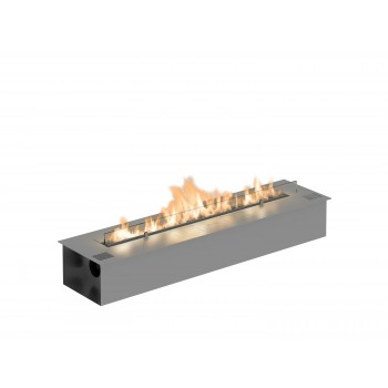Fire Line Automatic 2 Model E Bio Fireplace, Stainless Steel