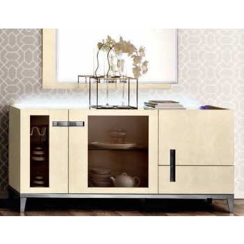 Ambra 3-Door Buffet w/Glass Door