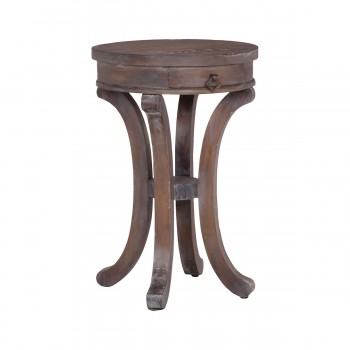 Mahogany Swoop Base Side Table