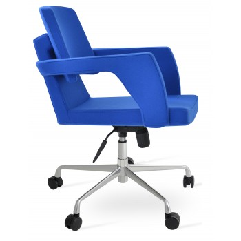Adam Office Chair, Base A3, Blue Camira Wool by SohoConcept Furniture