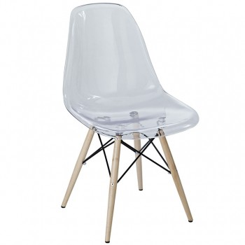 Pyramid Dining Side Chair, Clear by Modway