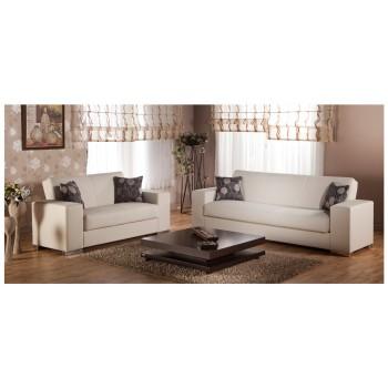 Kobe 2-Piece Living Room Set, Cream
