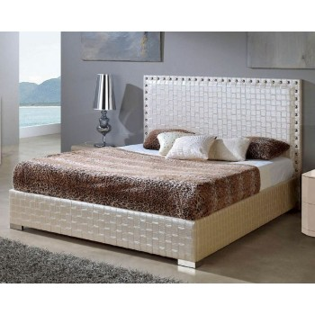 649 Manhattan-Trenzado Euro Twin Size Bed, Moka