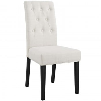 Confer Dining Fabric Side Chair, Beige by Modway