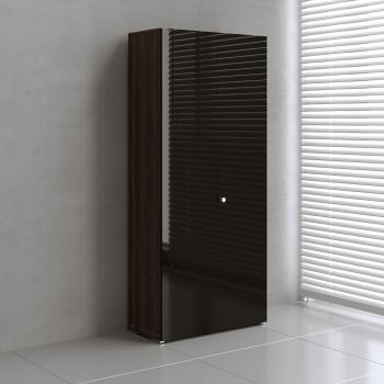 Mito 2-Door Storage MIT19, Dark Sycamore + Black High Gloss