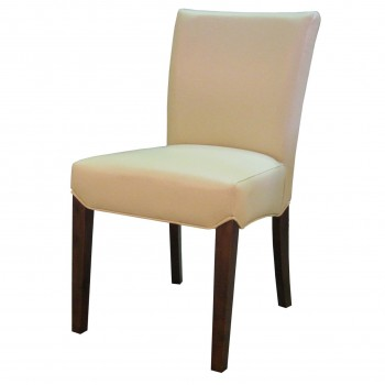 Beverly Hills Bonded Leather Chair, Cream, Set of 2 by NPD (New Pacific Direct)