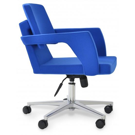 Adam Office Chair, Base A1, Blue Camira Wool photo