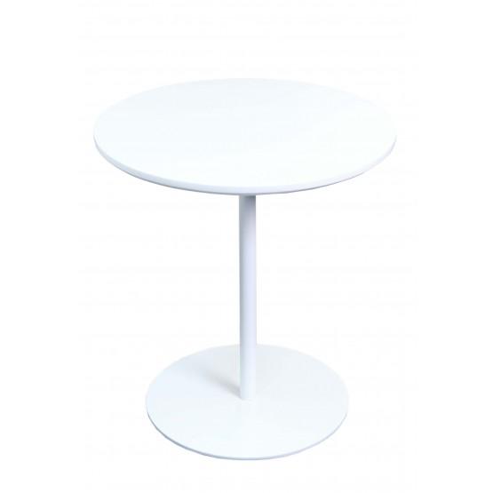 Ares End Table, White Base, White photo