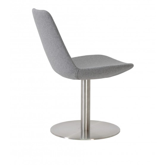Eiffel Round Swivel Chair, Silver Camira Wool photo