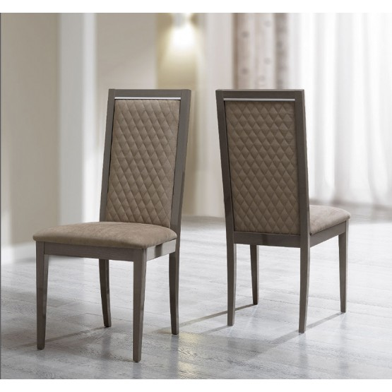 Platinum Rombi Dining Side Chair, Brown Nabuk photo