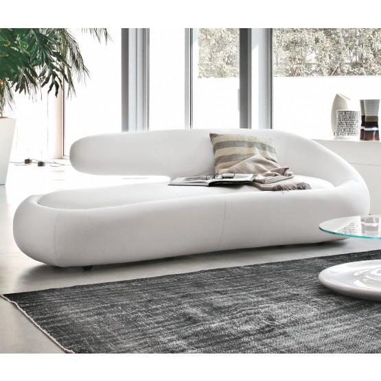Duny Sofa, White Leather photo