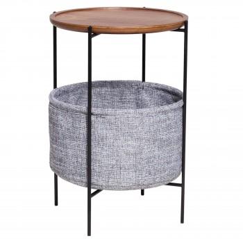 Olson End Table w/Storage, Walnut