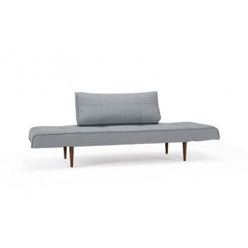 Zeal Deluxe Daybed, 552 Soft Pacific Pearl + Dark Wood Legs by Innovation Living