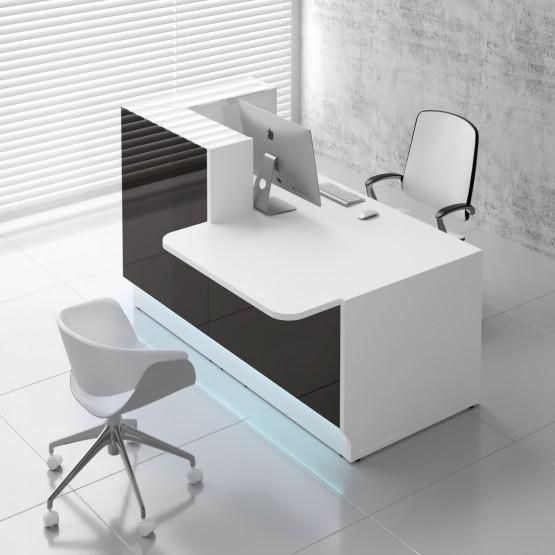 Linea LIN29L Reception Desk, Black photo