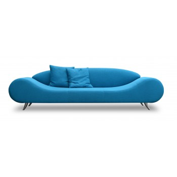 Harmony Sofa, Turquoise Fabric by SohoConcept Furniture