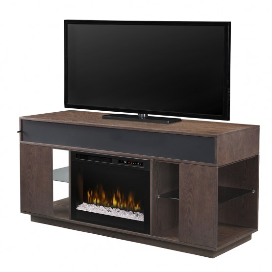 Audio Flex Lex Media Console, Smoke Finish, Acrylic Ice (XHD) 26