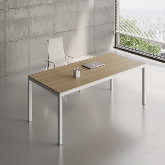 Impuls Desk IM06, White Pastel + Canadian Oak photo