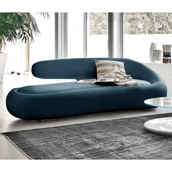 Duny Sofa, Blue Leather photo