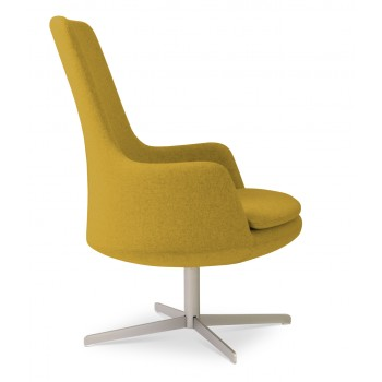 Dervish Lounge High Back 4 Star Armchair, Amber Camira Wool by SohoConcept Furniture