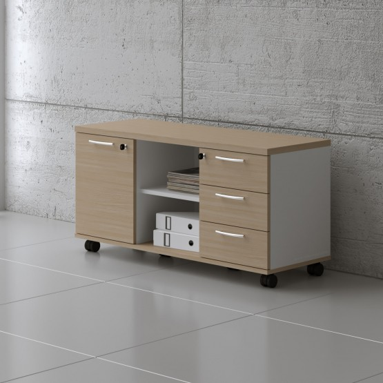 Managerial Storage A120MP, White + Beech photo