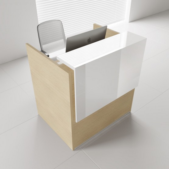 Tera TRA14 Reception Desk, Canadian Oak photo