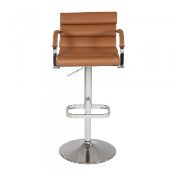 0661 Pneumatic Gas Lift Swivel Height Stool, Brown