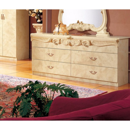 Barocco Double Dresser, Ivory photo