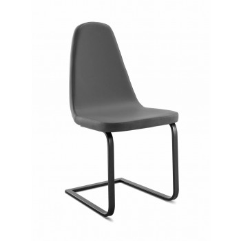 Blade Chair, Anthracite Matt Lacquered Frame + Skill Grey PU