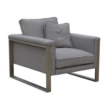 Boston Armchair, Black & White Fabric by SohoConcept Furniture