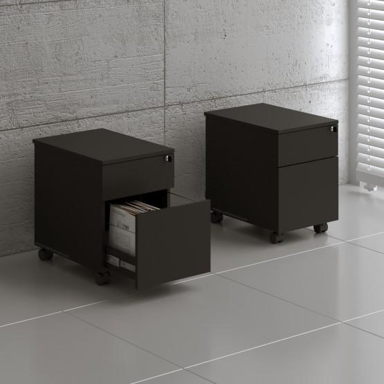 Standard SLD12 Mobile Pedestal w/Files Drawer, Black photo