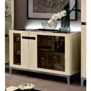Ambra 2-Door Buffet w/Glass Door