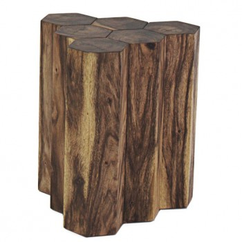 Gannon 6 Logs Side Table by NPD (New Pacific Direct)