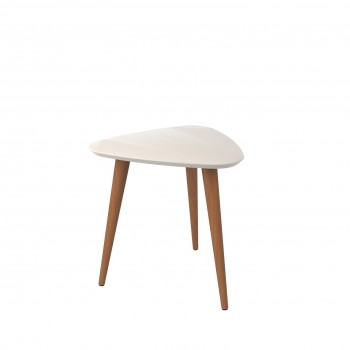 Utopia High Triangle End Table, Off White