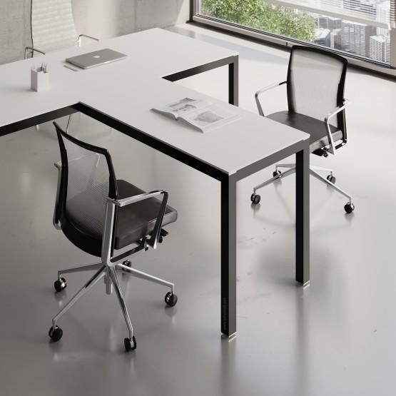 Impuls Desk Extension IM07, Black + White Pastel photo