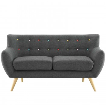 Remark Loveseat, Gray by Modway