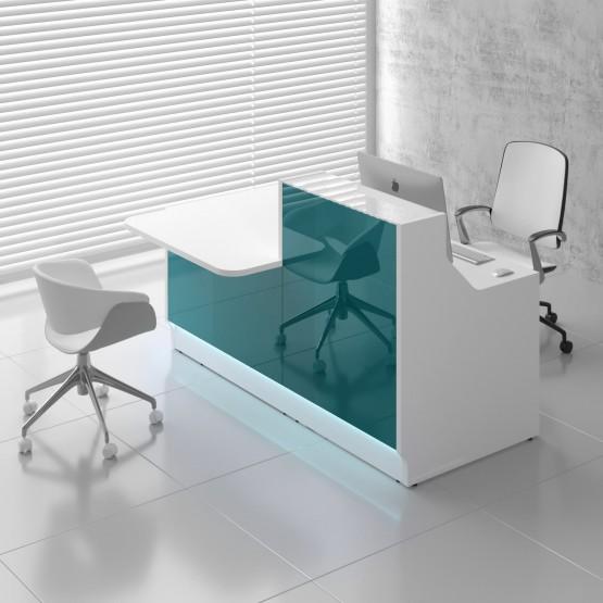 Linea LIN331P Reception Desk, Dark Turquoise photo