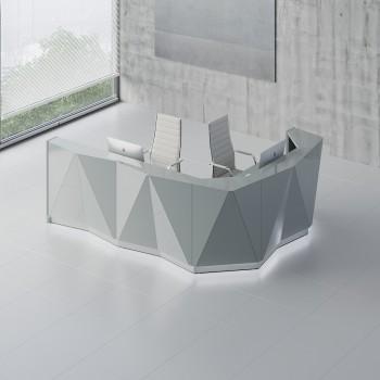 Alpa ALP17P Reception Desk, Aluminum