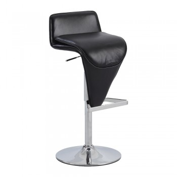 0630 Low Back Pneumatic Stool, Black by Chintaly Imports
