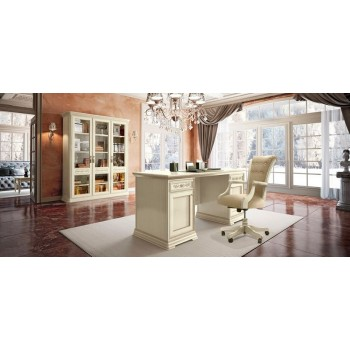 Torriani 2-Piece Office Set, Composition 4, Ivory