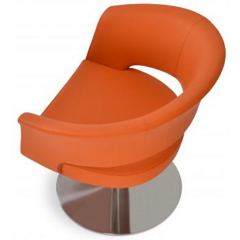 Ada Swivel Round Armchair, Orange PPM by SohoConcept Furniture