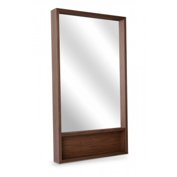 Malta Mirror With Shelf, Walnut by SohoConcept Furniture