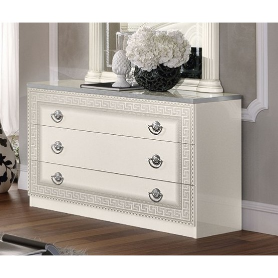Aida Single Dresser, White photo