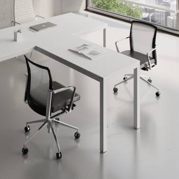 Impuls Desk Extension IM07, All White Pastel