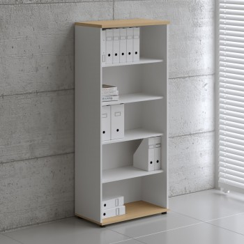 Basic K5504 Shelving Storage, White + Beech