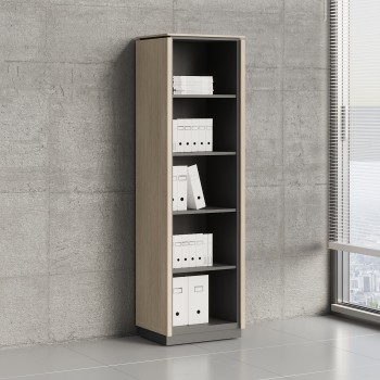 Status Open Storage Cabinet X59, Canadian Oak
